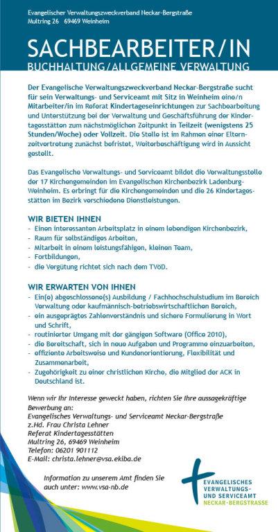 Stellenangebot Sachbearbeiterin In Weinheim Referat